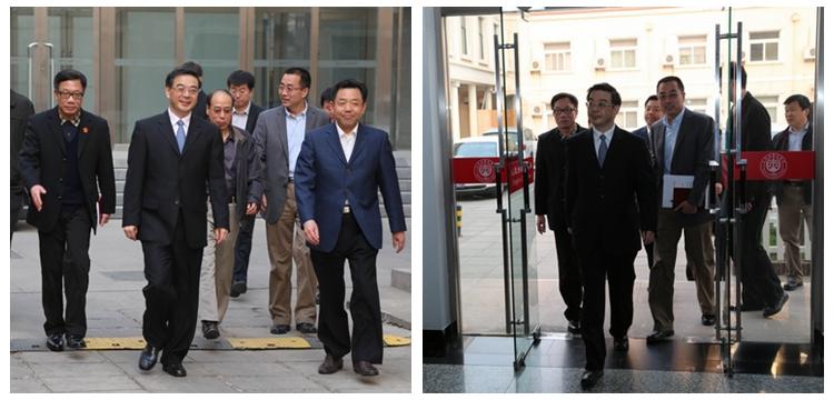 2014年4月8日,周强院长到《中国审判》杂志社视察工作