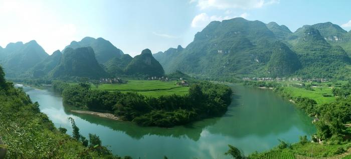 微信头像招财的山水风景
