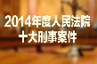 2014人民法院十大刑事案件